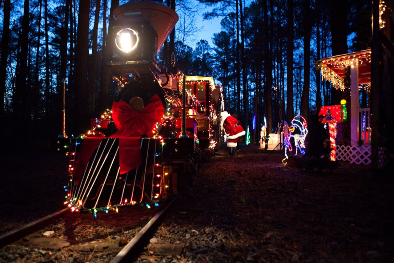 Santa Train at the NC Museum of Life and Science